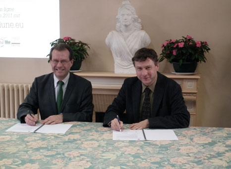 Signature du partenariat avec le Cerqual à la mairie de Trilport